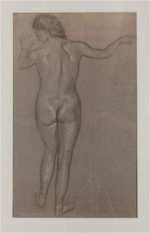 Ludwig von Hofmann Untitled standing nude from