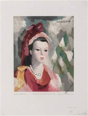 Marie Laurencin Portrait de Femme en rouge 1949