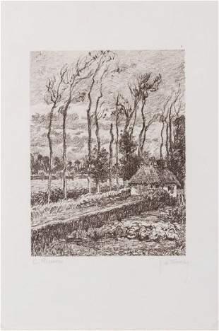 Camille Pissarro Landscape at Varengville 1900c