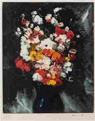 Maurice de Vlaminck Vase of Flowers 1950c