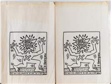 Keith Haring 2 Pop Shop Shopping Bags 1980s