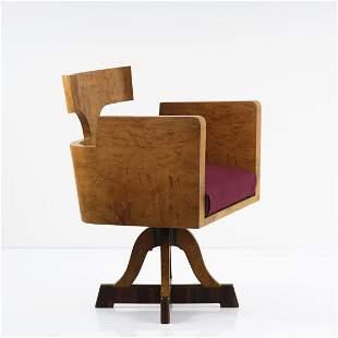 Italy, Desk chair, c. 1930