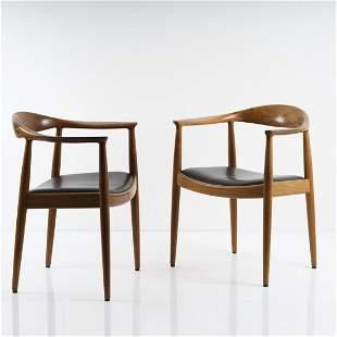 Hans J. Wegner, Two 'PP 503' armchairs
