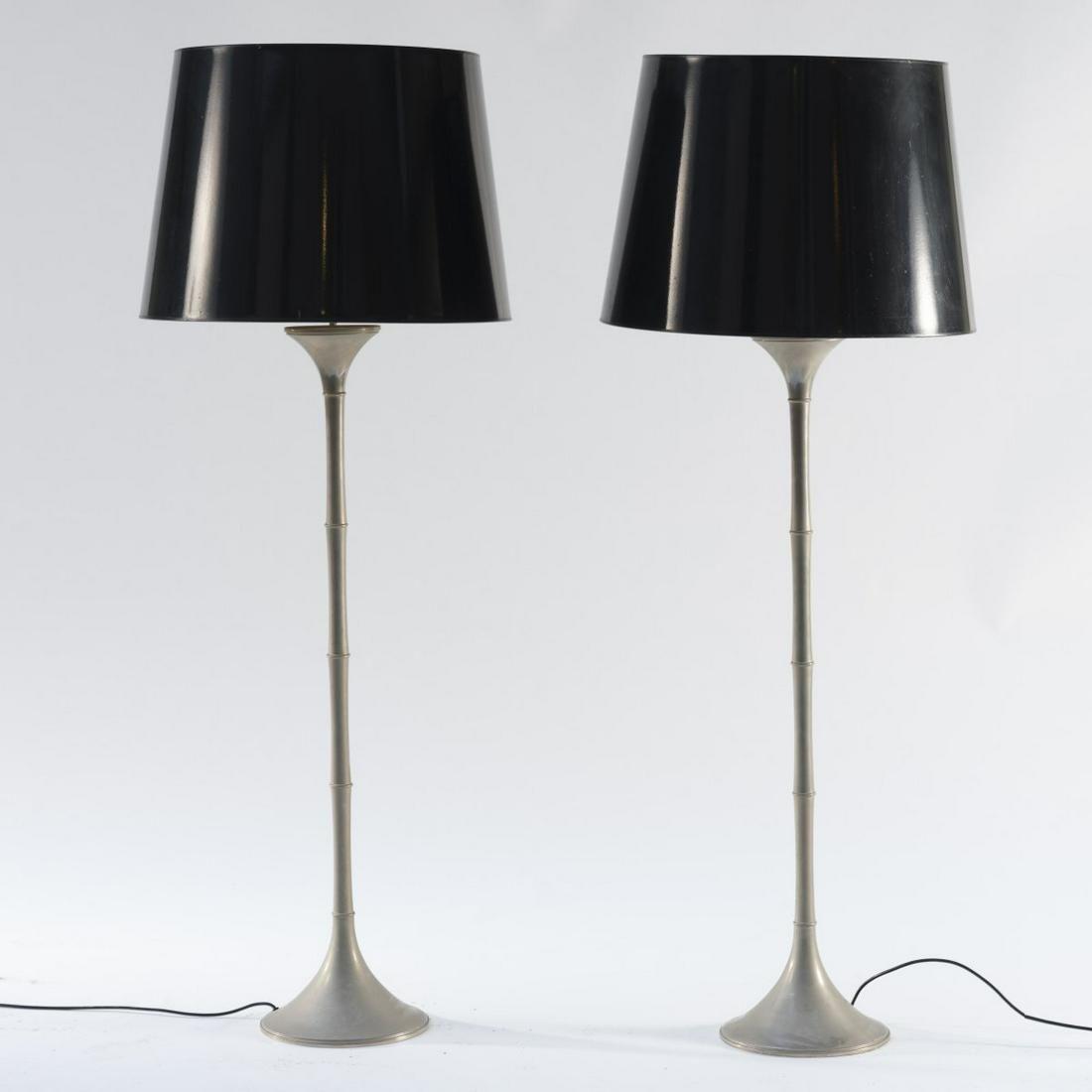 Ingo Maurer, Two 'ML 2F' floor lamps, 1970