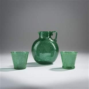 Napoleone Martinuzzi, 'Pulegoso' jug and cups, 1928-30