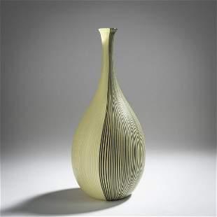Carlo Scarpa, 'Tessuto bicolore' vase, c. 1940