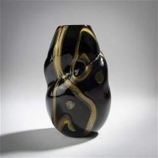Archimede Seguso, 'Nero d'oro' vase, 1951