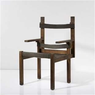 Marcel Breuer , 'ti 1a' wooden-slat chair, 1924