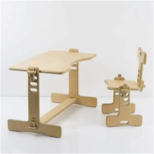 Luigi Colani, 'Tobifant' desk and chair, 1977
