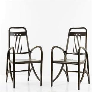 Thonet, Vienna, 2 '511' armchairs, c. 1904