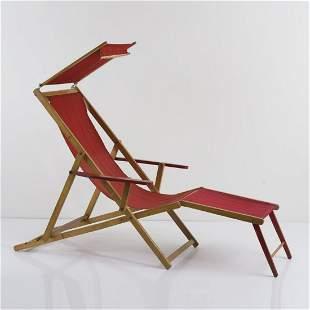 G. R. Ind. Piemontese, Sun / deck chair, 1940s