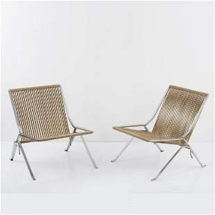 Poul Kjaerholm, 2 'PK 25' - 'Element chairs', 1952