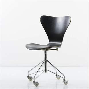 Arne Jacobsen, '3117' desk chair, 1955