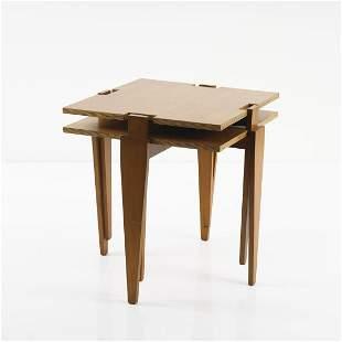 Angelo Ostuni; Renato Forti, 2 'Modular' side tables,