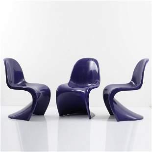 Verner Panton, Three 'Panton' chairs, 1962/67