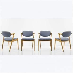 Kai Kristiansen, 4 'M 42' chairs, 1960s