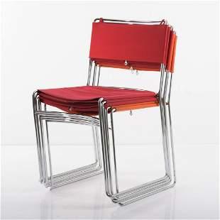Enzo Mari, 5 'Delfina' stacking chairs, 1974