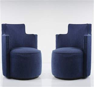 Andrée Putman, 2 easy chairs, c. 1989