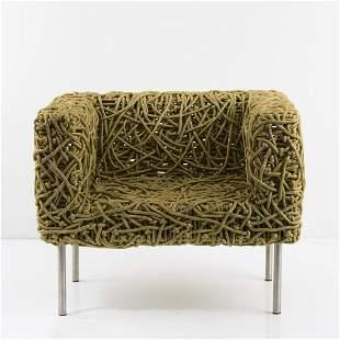 Humberto Campana; Fernando Campana, 'Azul' easy chair,