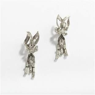 France, Pair of earrings, 1940s
