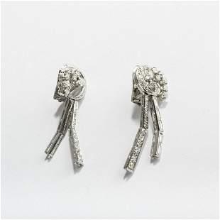 USA, Pair of earrings, c. 1950