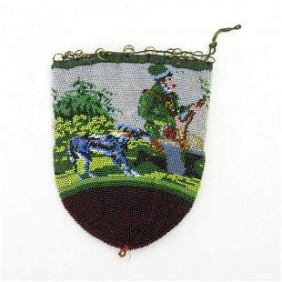 Tobacco pouch with hunting motif, c. 1830/40