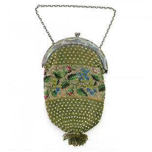 Bag with rose buds and forget-me-nots, 1st half of the