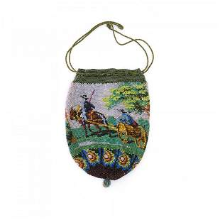 Pouch with peasant scene, 19th century