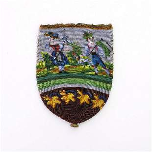 Pouch with peasant scene, 2nd half of the 19th century