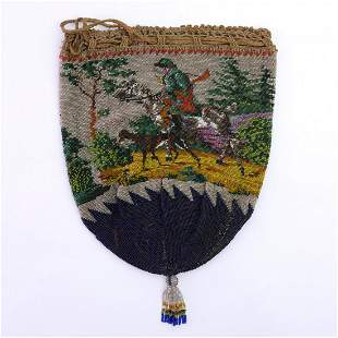 Pouch with hunting motif, 1st half of the 19th century