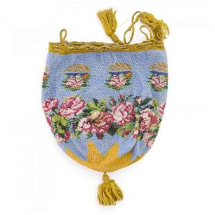 Pouch with rose border, 2nd half of the 19th century
