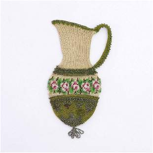 Pouch in the shape of a jug with rose border, 2nd half