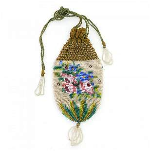 Pouch with a flower motif, 2nd half of the 19th century