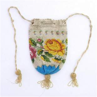 Pouch with floral border, 2nd half of the 19th century