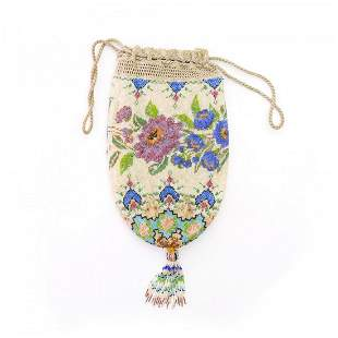 Pouch with flower motif, c. 1910