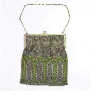 Bag with carpet pattern, c. 1910
