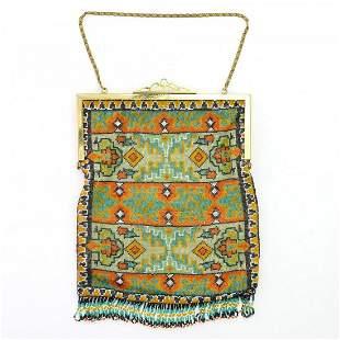 Art Deco bag with carpet pattern, c. 1920