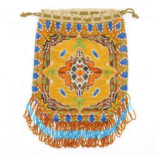 Pouch with carpet pattern, c. 1920