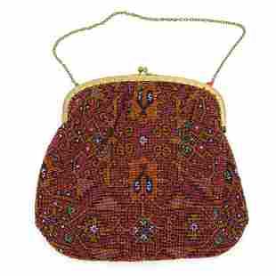 Bag with carpet pattern, c. 1930