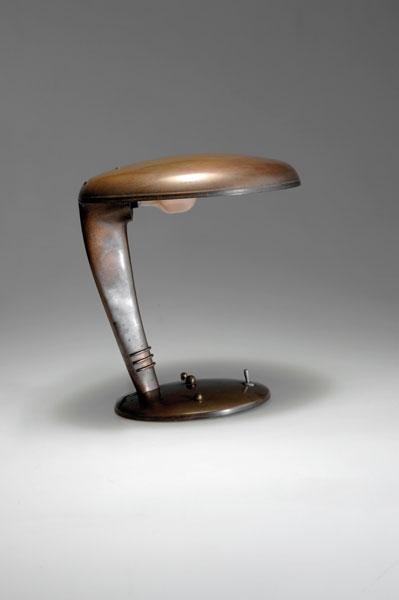 8: Norman Bel Geddes. 'Cobra' table light,designed c. 1
