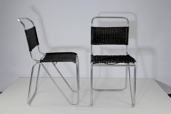 23: Willem Hendrik Gispen. Pair of 'Diagonal' chairs, d