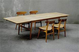 110: Knud Andersen; Hans J. Wegner. Dining table with f