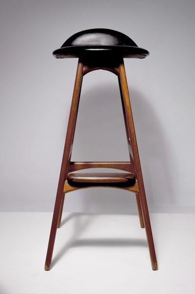 243: Erik Buck. Three bar stools, 1960s. H. 83.5 x 39 x - 2