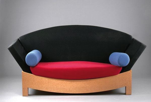 341: Hans Hollein. 'Mitzi' sofa, 1981. H. 97 x 210 x 93
