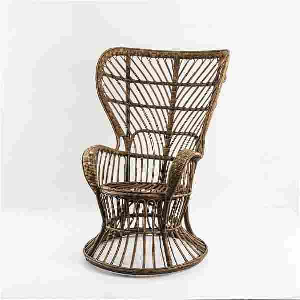 Gio Ponti, Wicker chair, c. 1950