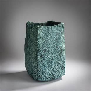 Peter Fraser Beard , Tall floor vase, c. 2000