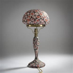 Fratelli Toso, 'Murrine' table light, c. 1905