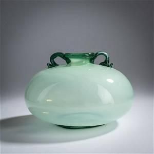 Napoleone Martinuzzi , 'Incamiciato' vase with handles,