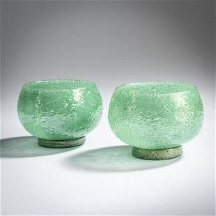Napoleone Martinuzzi, Two 'Pulegoso' bowls, c. 1930