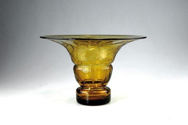 272: Verrerie d'Art de Metz. Vase, 1920s. H. 22.8 cm; D